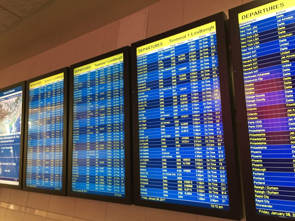 Airport Departure Board.  One goal to saving for early retirement - Travel!