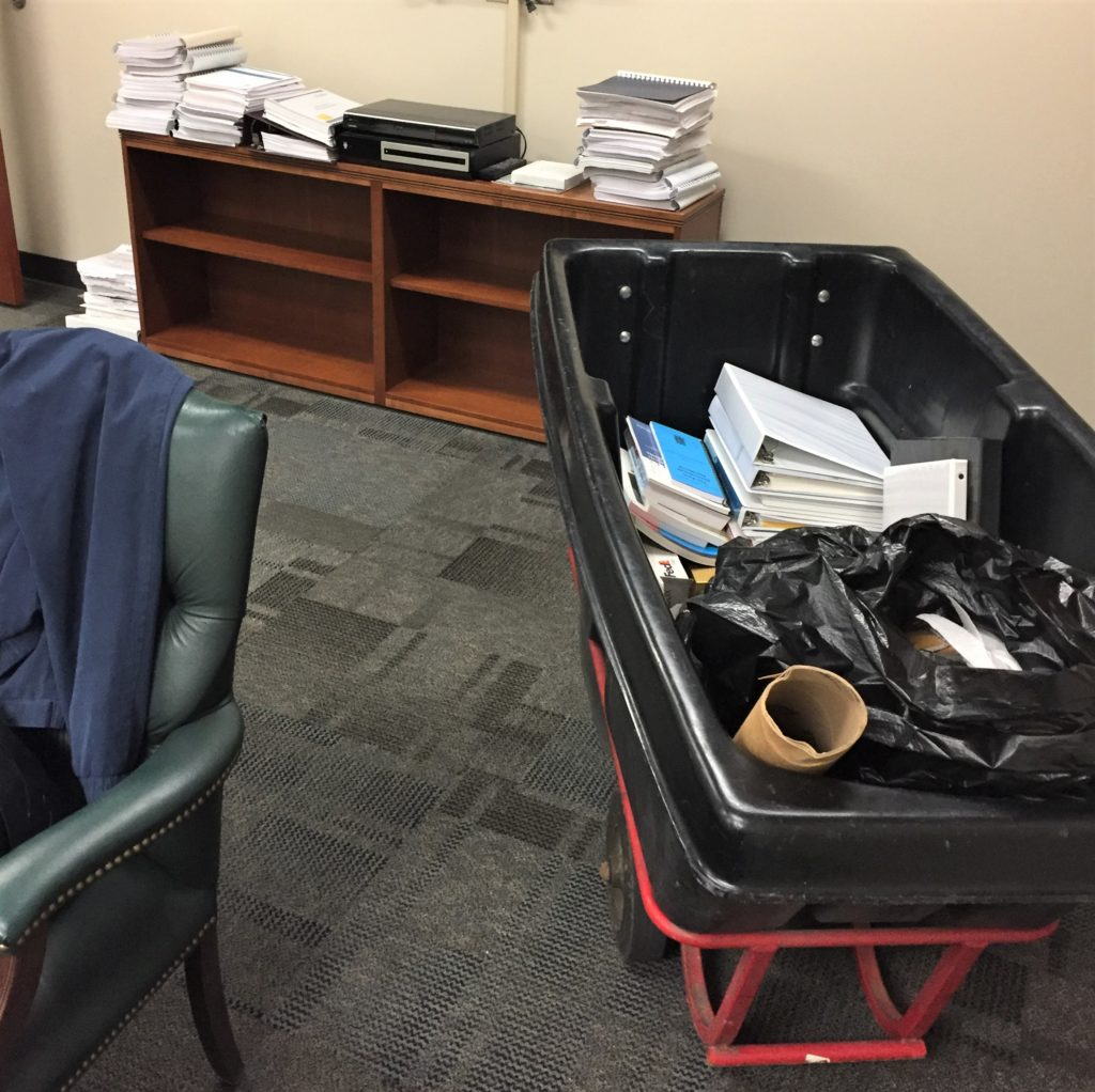 Cleaning out the Office at the end of career