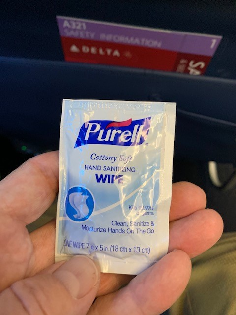 Purell Wipe - Flying after COVID